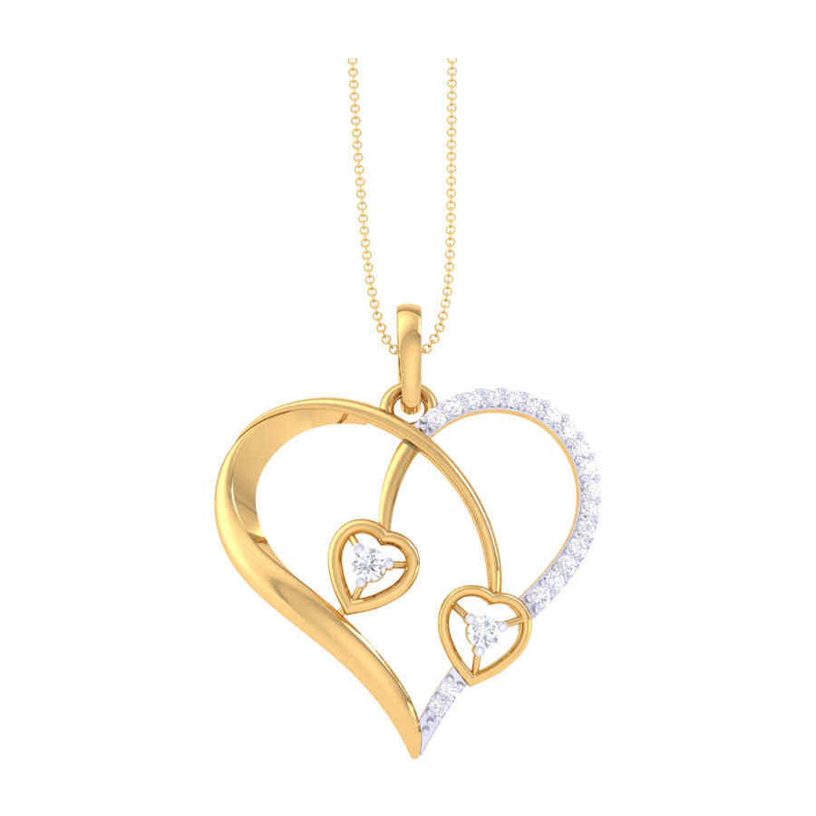Classic Heart Shape Diamond Pe