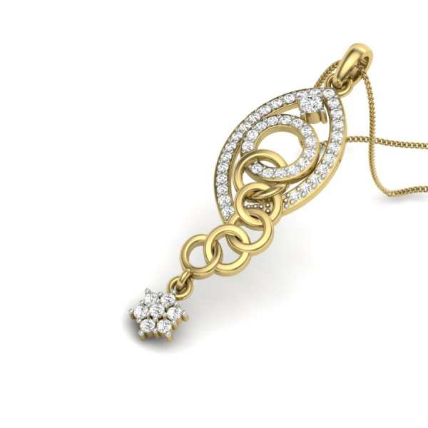 Webbed Ovals Diamond Pendant