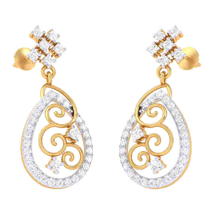 Light Weight Diamond Earring