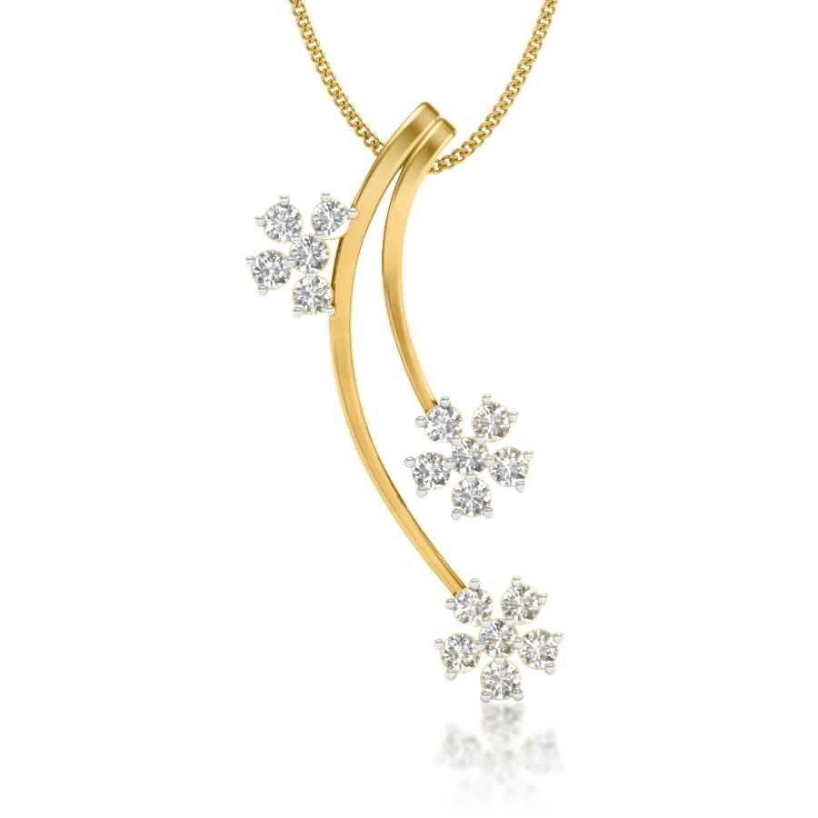 Falling Stars Diamond Pendant