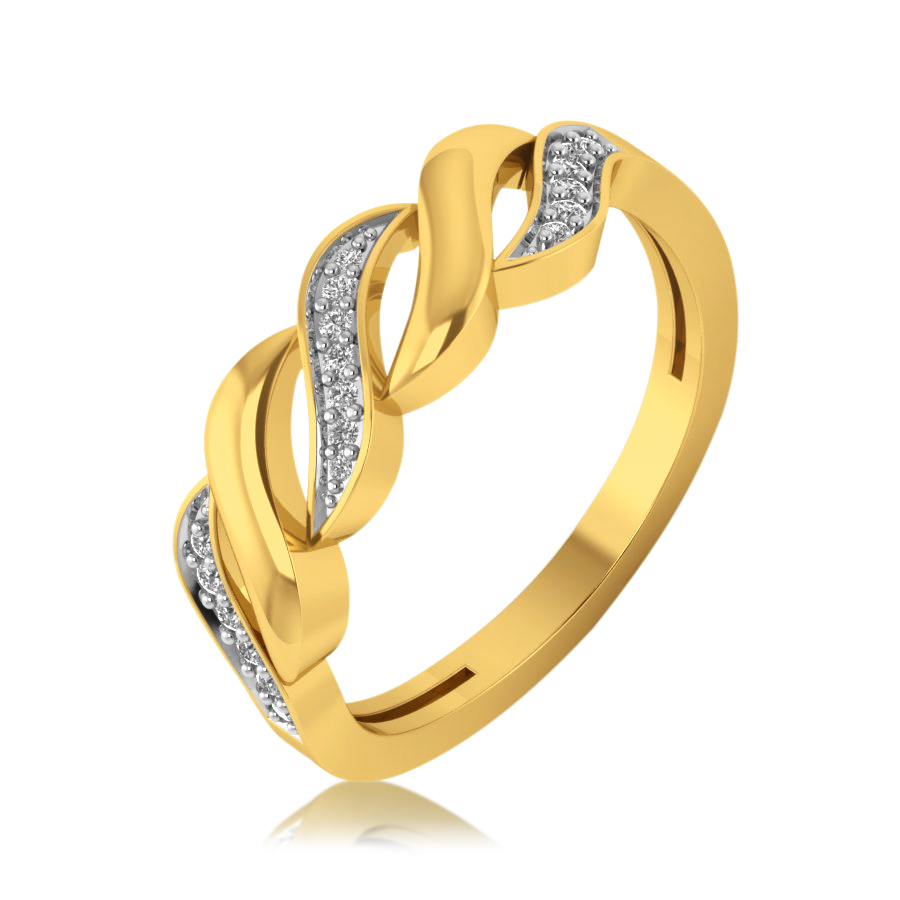 Twist It Up Diamond Ring