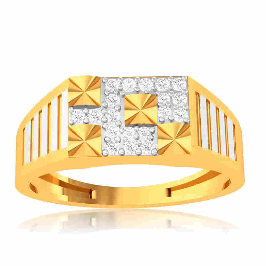 Solid Square Diamond Ring