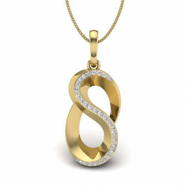 Bend It Diamond Pendant