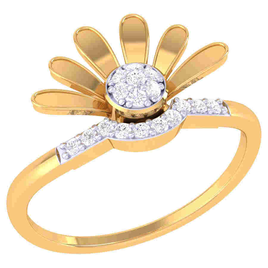 Sun Flower Diamond Ring