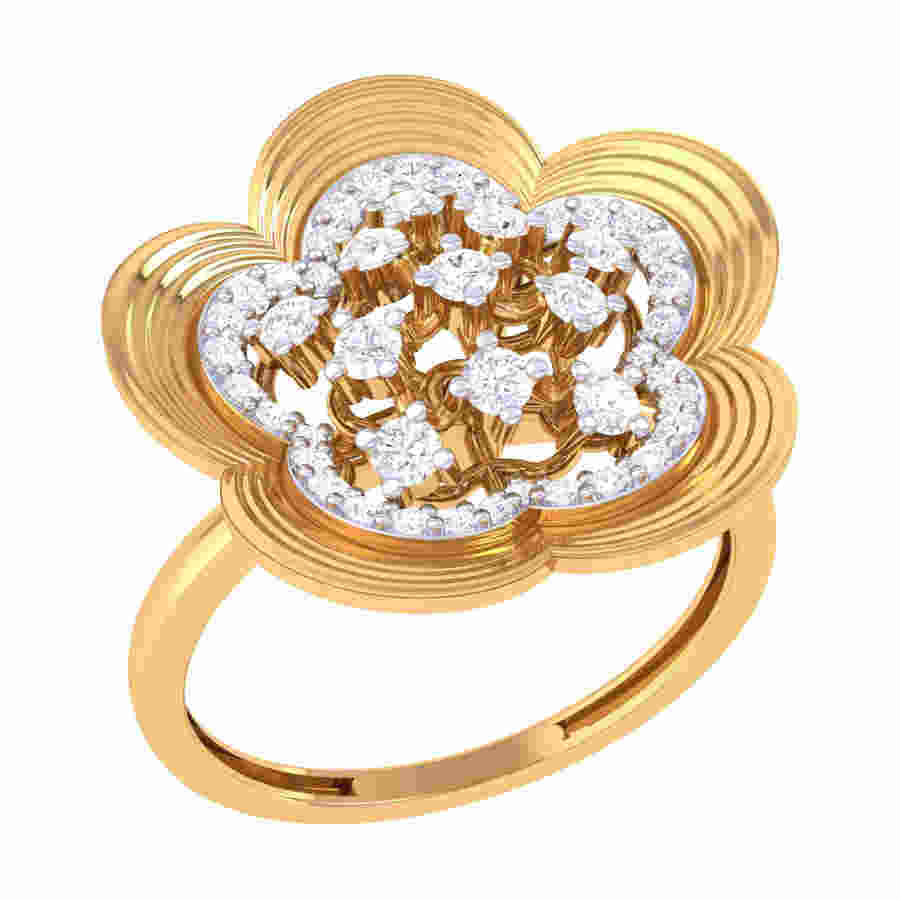 Zingy Flower Shape Diamond Rin