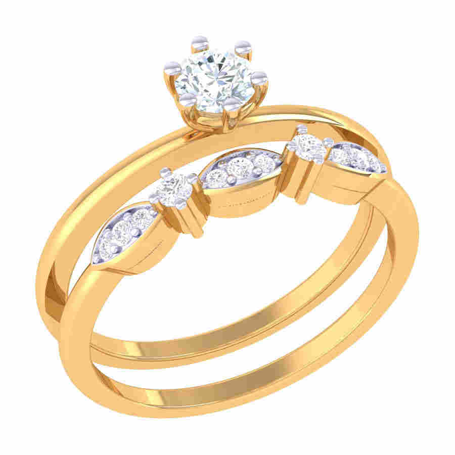 Twins Round Solitaire Ring