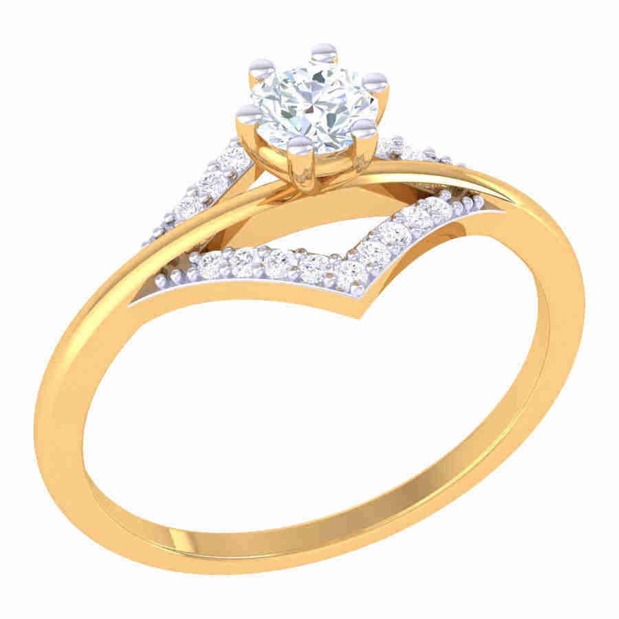 Rectangle Shape Diamond Ring