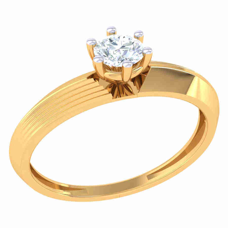 Simple Look Solitaire Ring