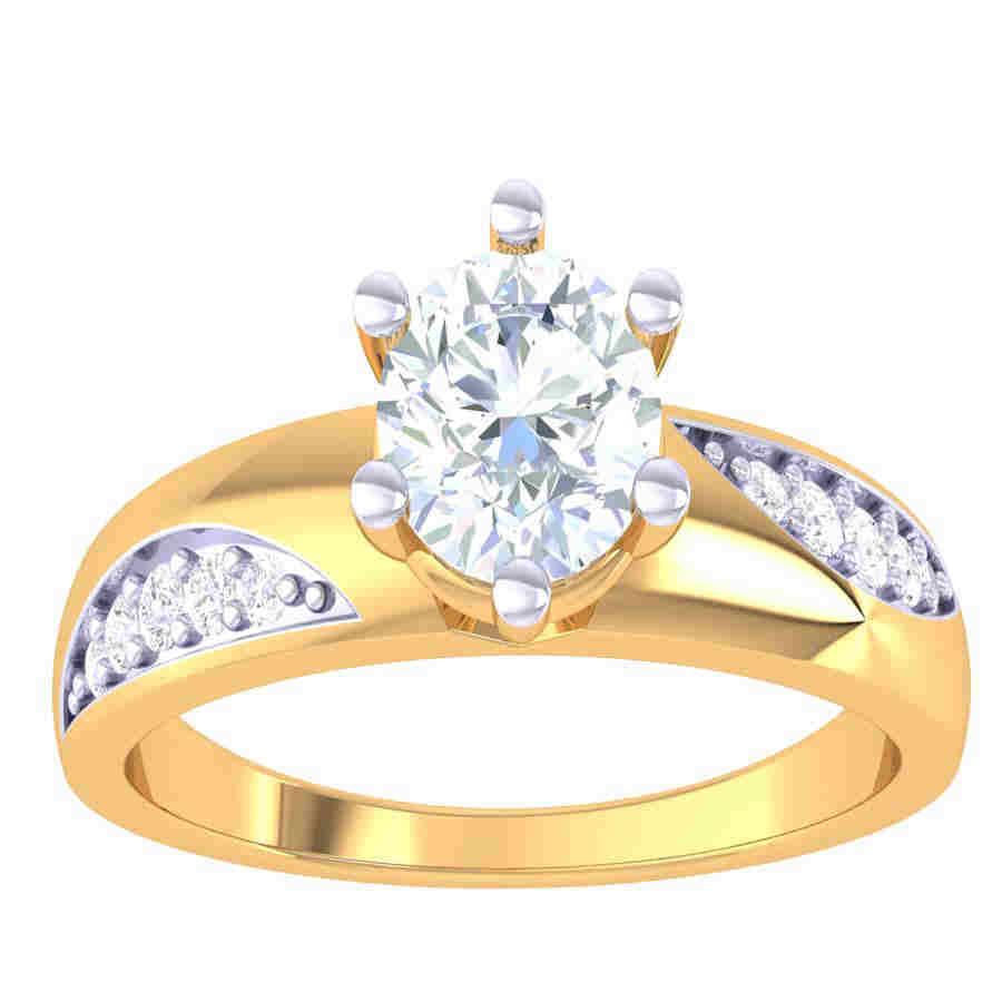Cross Line Design Diamond Ring