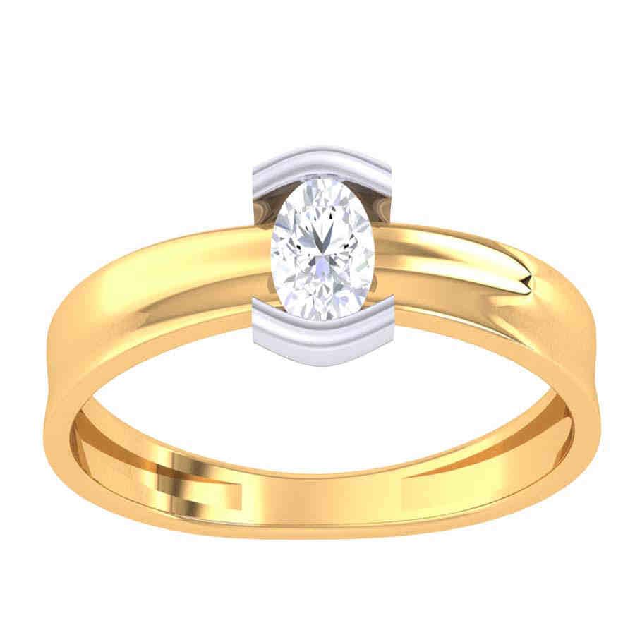 Descent Diamond Ring