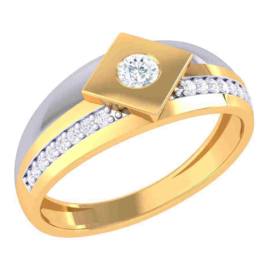 Rectangle Design Diamond Ring