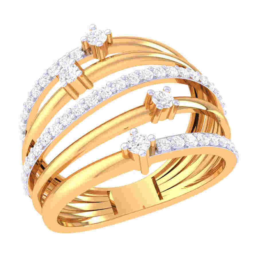 Five Round Diamond Ring