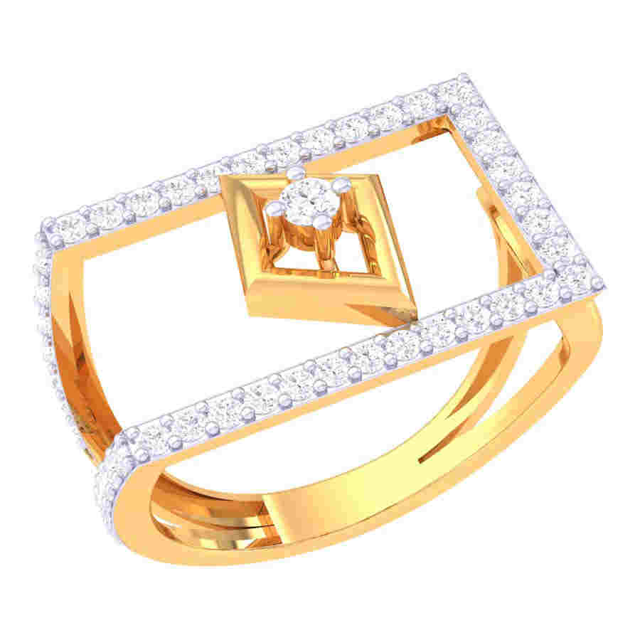 Rectangle With Solitaire Diamo
