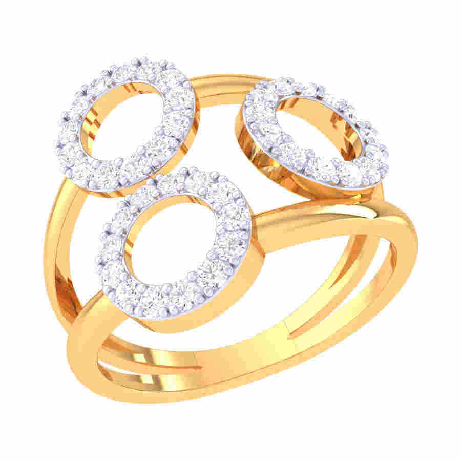 3 Circle Diamond Ring