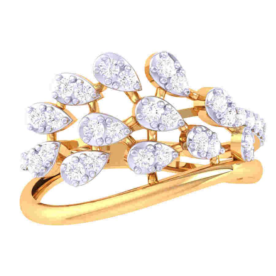 Crowning Dew Diamond Ring
