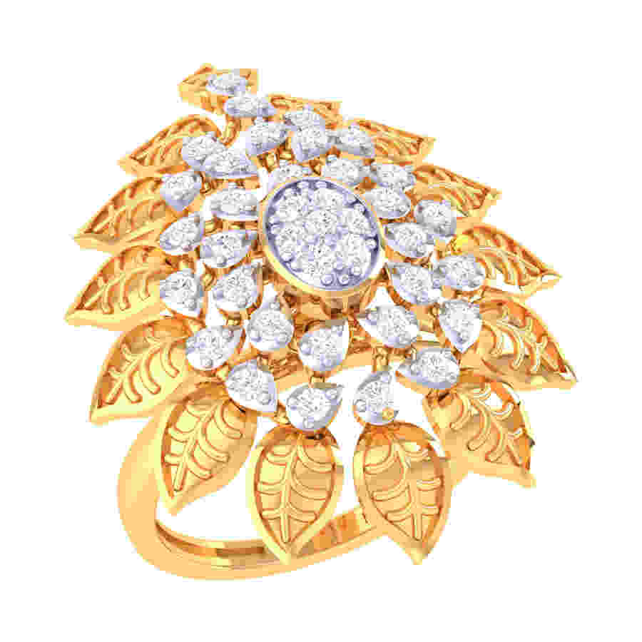 Mystical Flower Diamond Ring