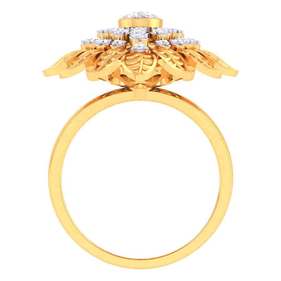 Mystical Flower Diamond Ring