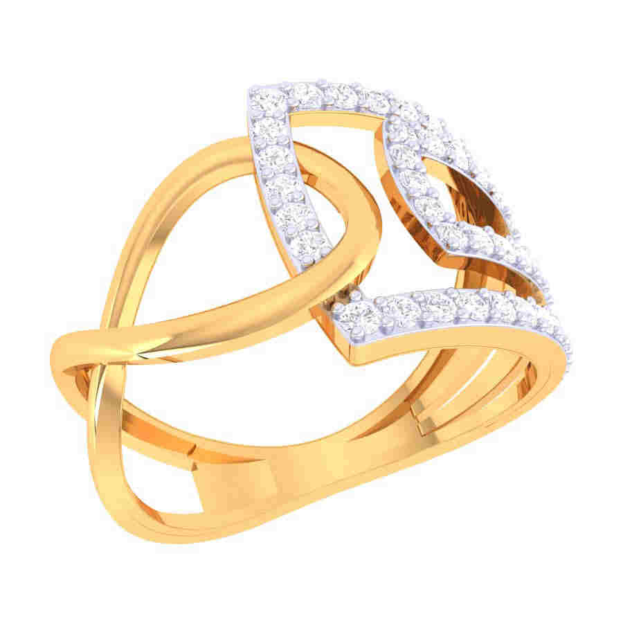 Zig Zag Shape Diamond Ring