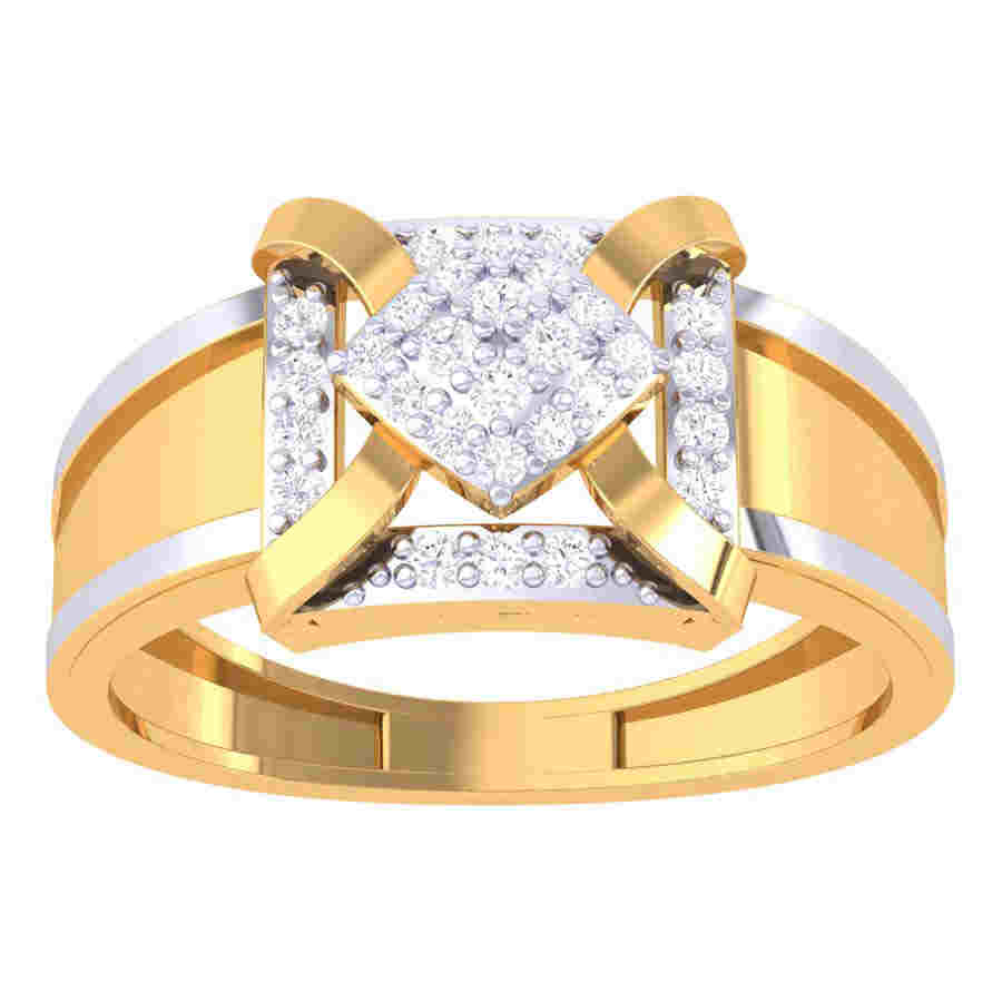Luxury Square Diamond Ring