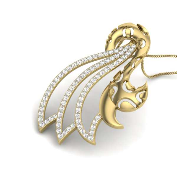 Studded Swirls Diamond Pendant