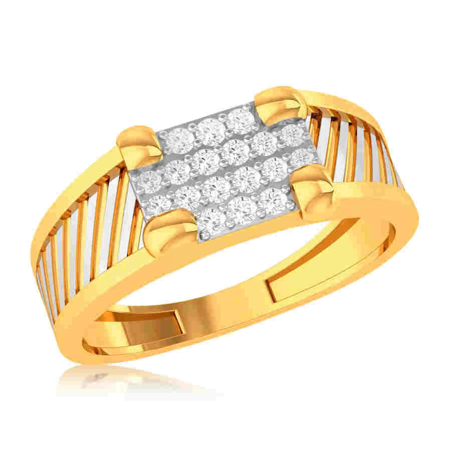 Stylish 18 Diamond Ring