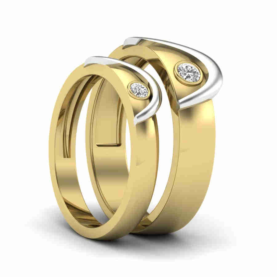 black wedding gold bands couple products matching couplerings queen rose his king promise gardeniajewel her rings titanium