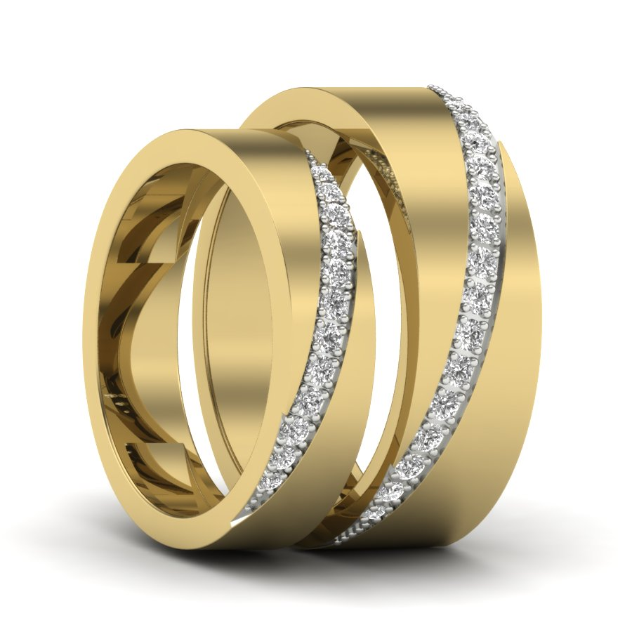 besttohave set couple titanium tone ring jewellery two luxury hers his bands wedding mens made image for matching band gold and rings