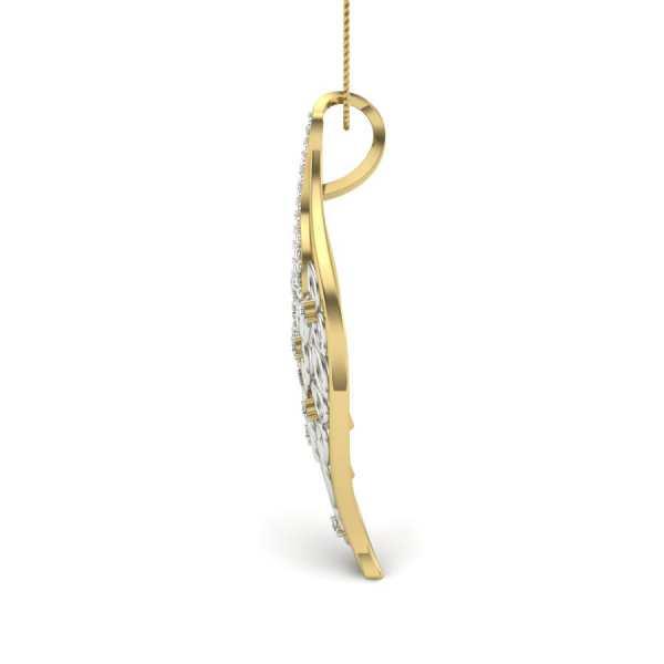 Sparkling Leaf Diamond Pendant