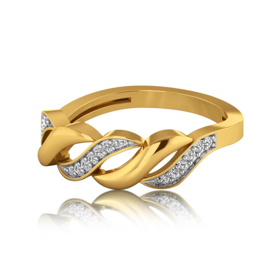 Twist It Up Diamond Ring