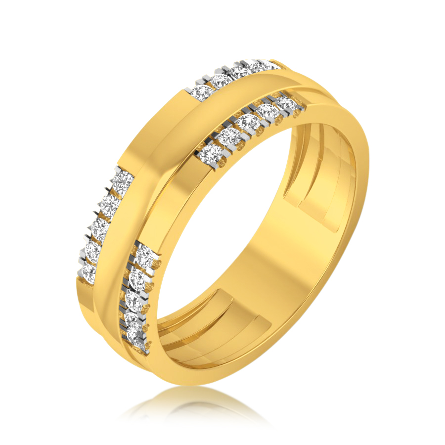 Two Layered Diamond Ring