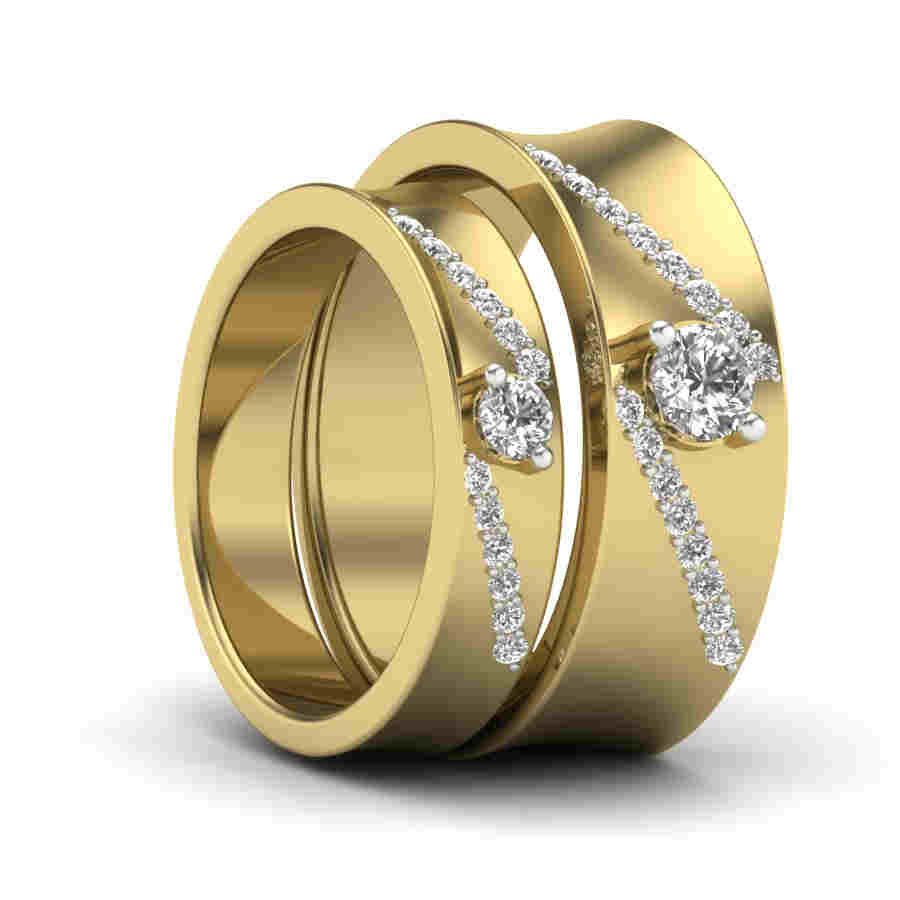 design ring beautiful best gold yellow jewellery bands wedding couple stackable promise rings