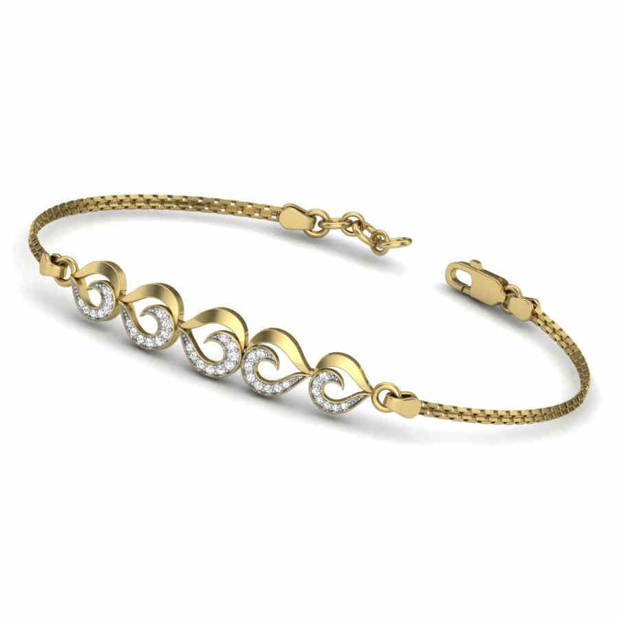 5 Heart Diamond Bracelet
