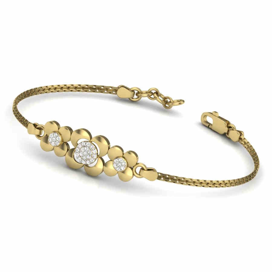 3 Flower Diamond Bracelet