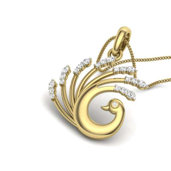 Love Lock Diamond Pendant