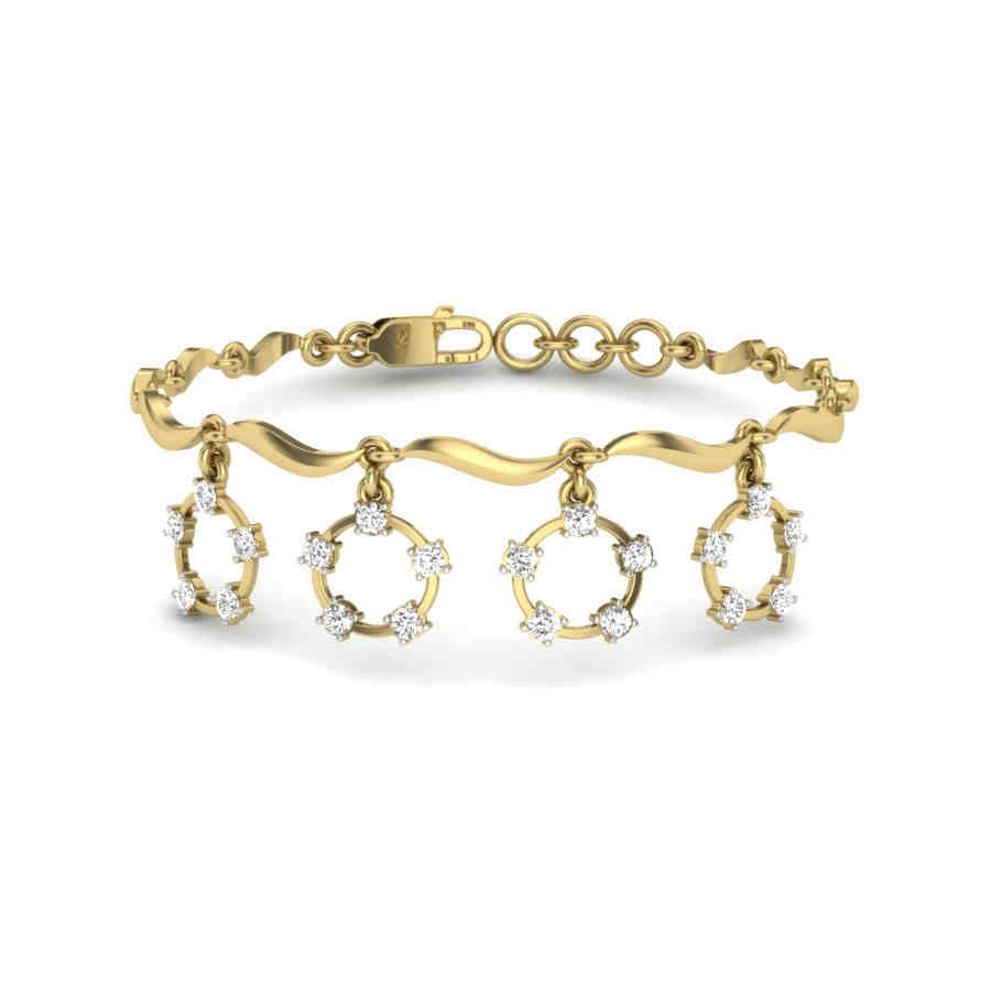 Dangling 4 Diamond Bracelet