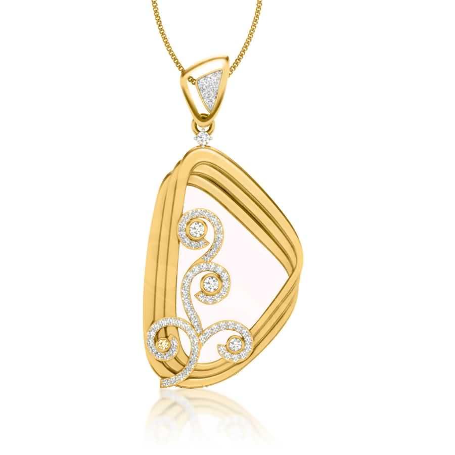 Meshed Streaks Diamond Pendant