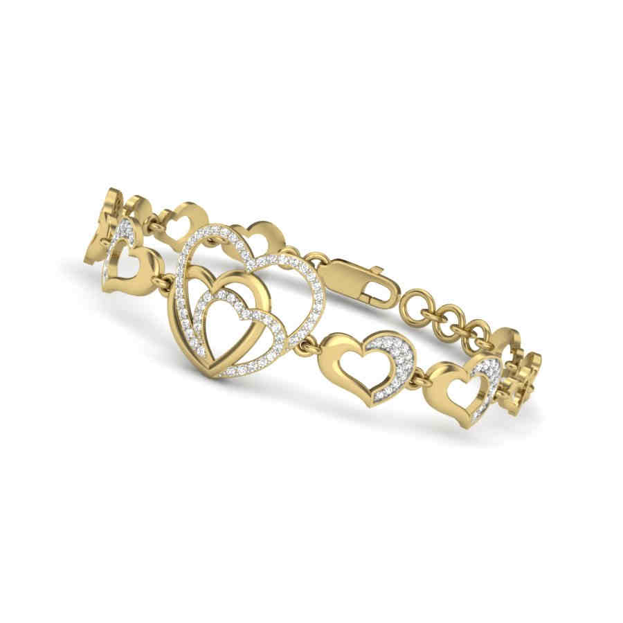 Heart To Heart Diamond Bracele