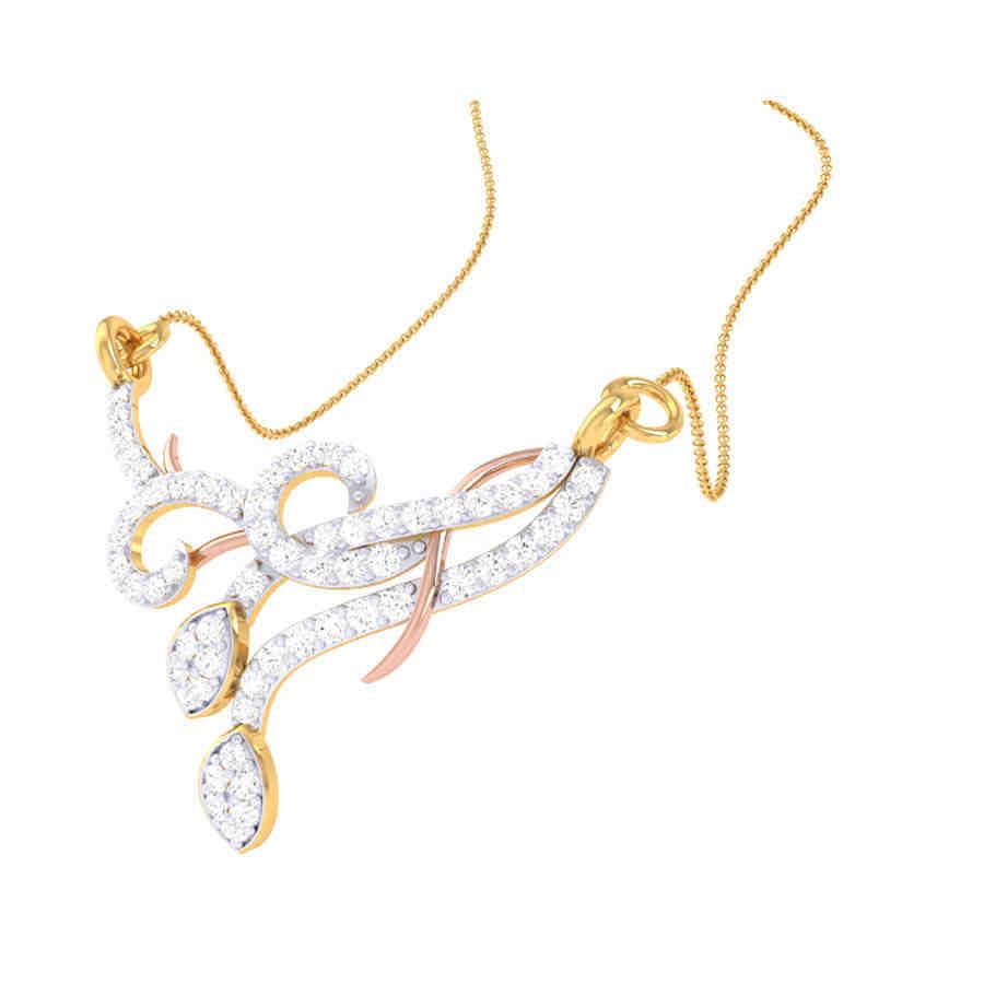 Tanmaniya Real Diamond Pendant