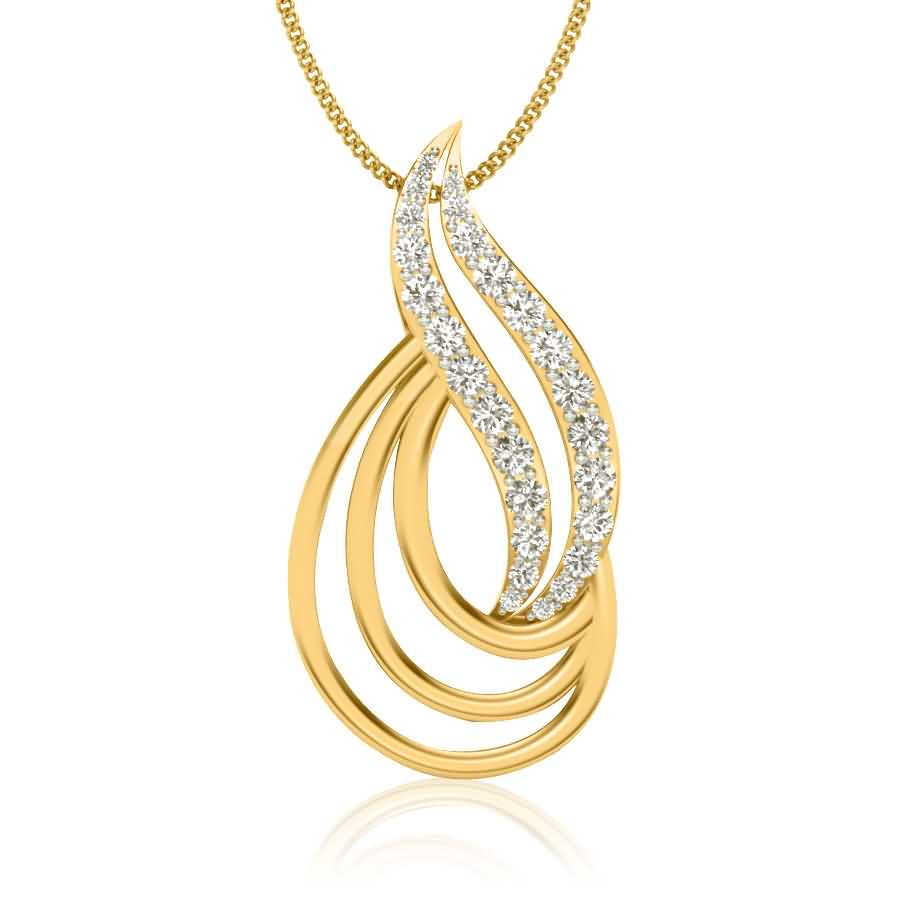 Shining Loops Diamond Pendant