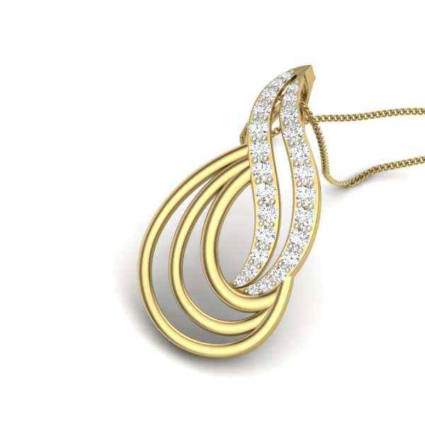 Shining Loops Diamond Pendant
