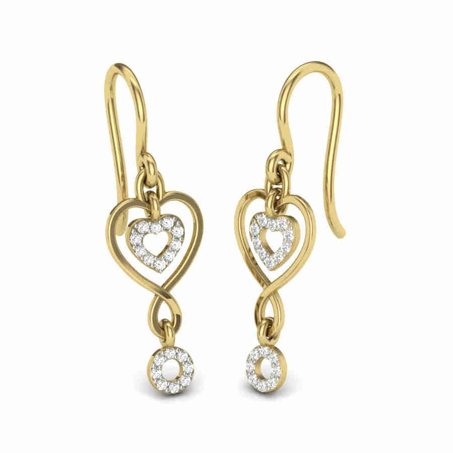 Fancy Heart Diamond Earring