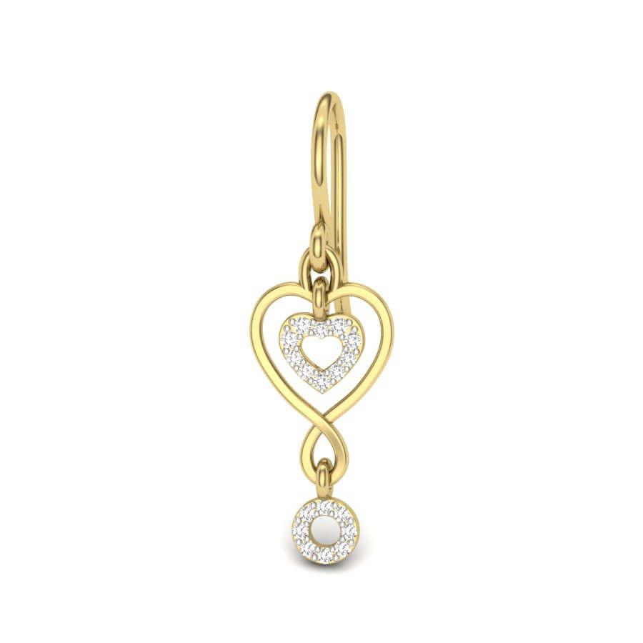 Fancy Heart Diamond Earring