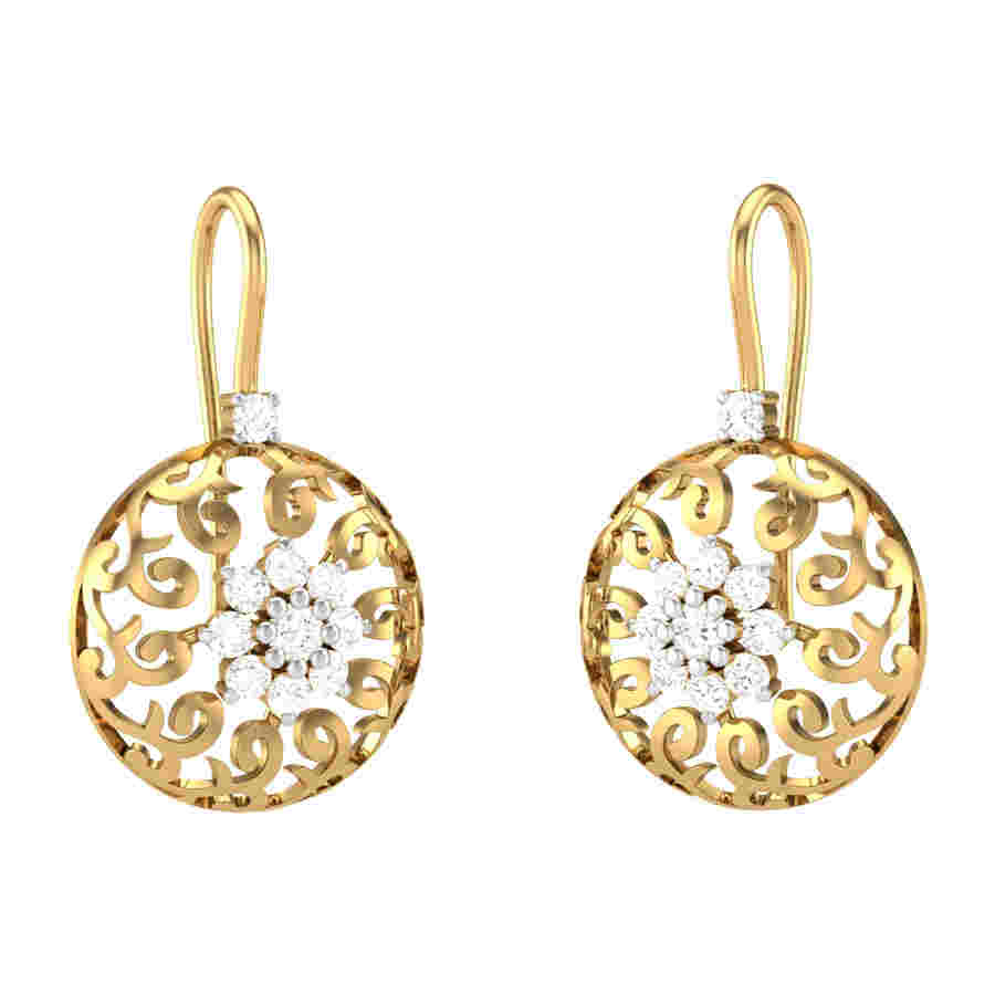 Corundum Diamond Earring