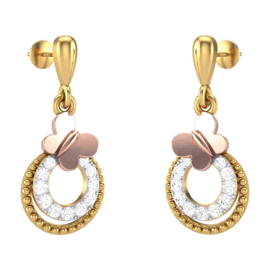 Lozenge Diamond Earring