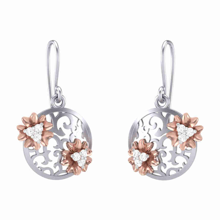Zircon Diamond Earring