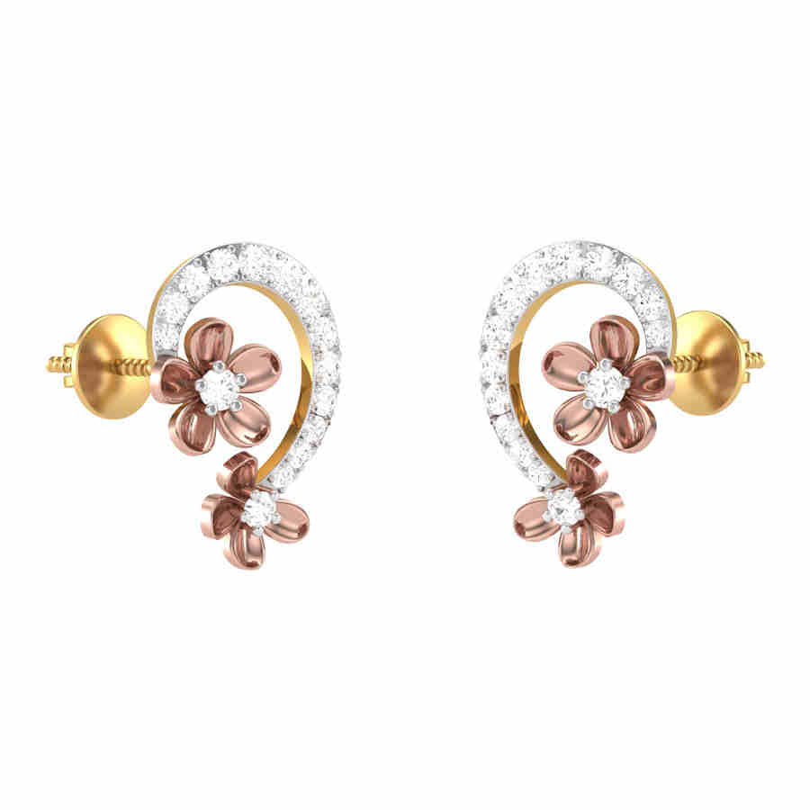 Tiara Diamond Earring
