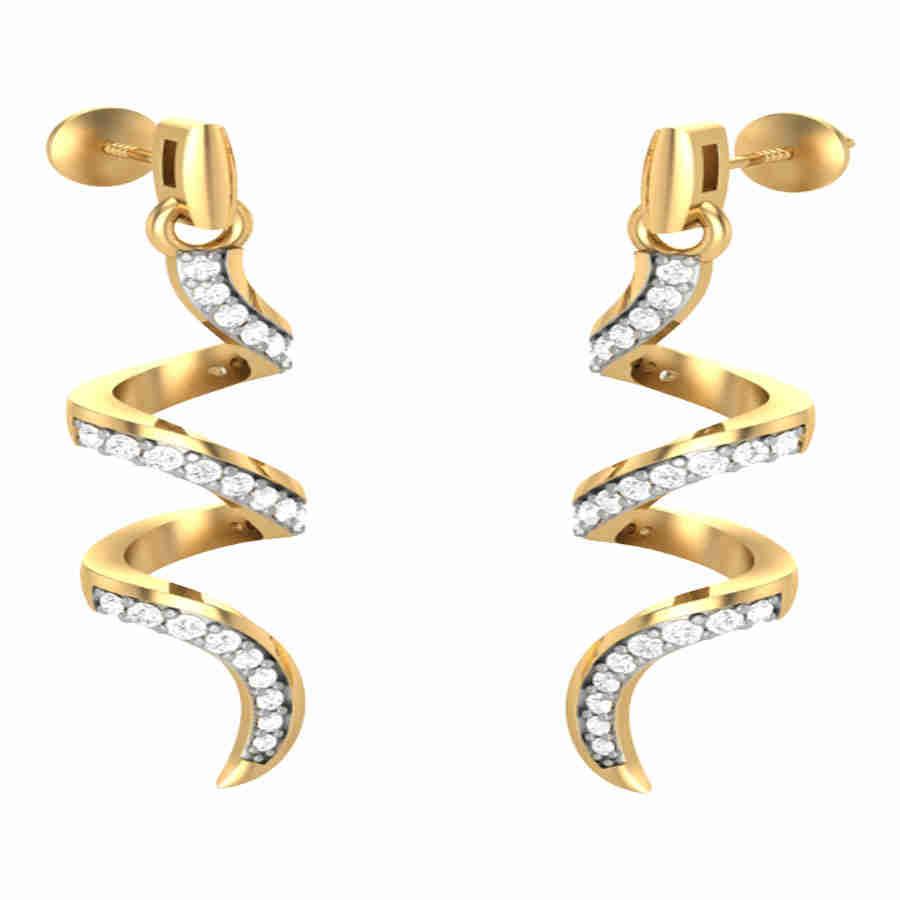 Ornament Diamond Earring