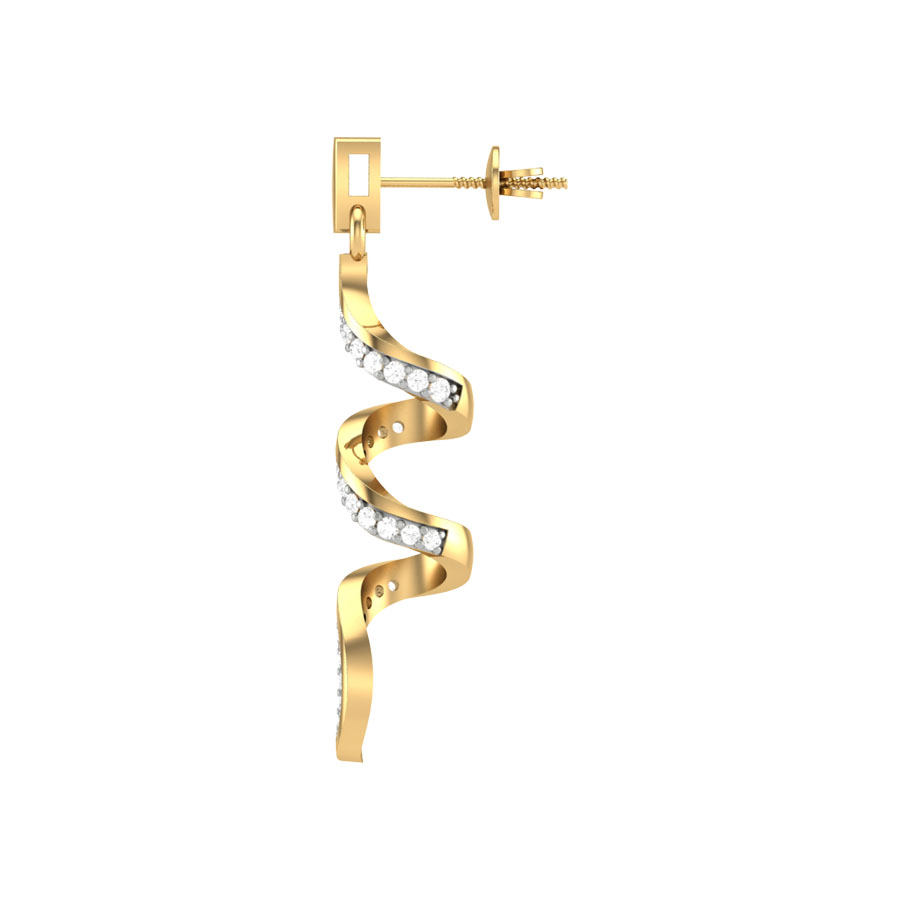 Ornament Diamond Earring