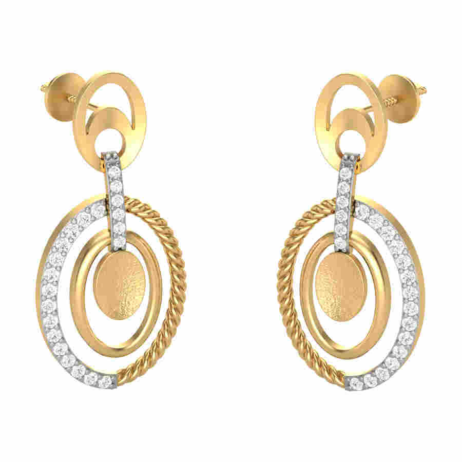 Stickpin Diamond Earring