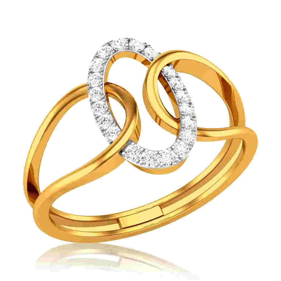 Interlocked Diamond Ring